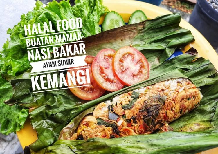Nasi bakar ayam suwir kemangi-menu diet SIMPLE ENAK NO MINYAK