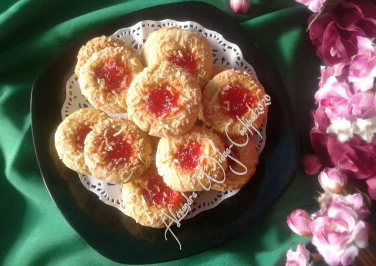 Strawberry & Cheese Thumbprint Cookies