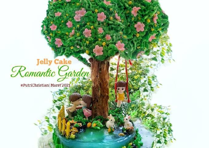 Jelly Cake Romantic Garden buttercream