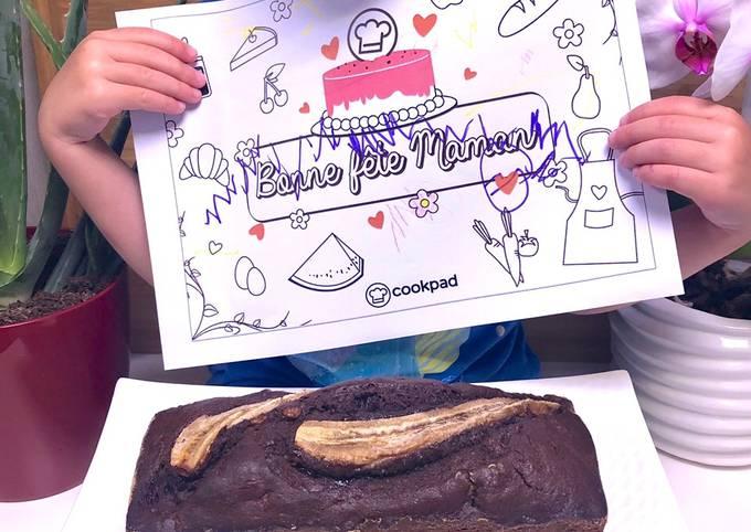 Cake chocolat moelleux / banane (banana bread)