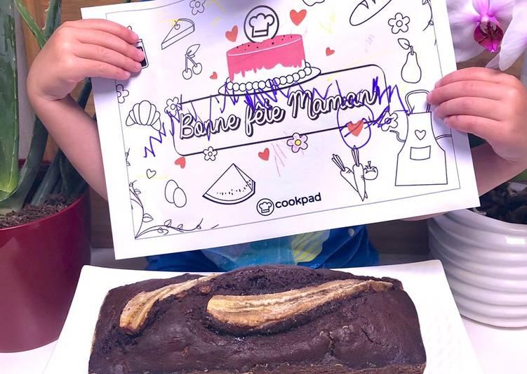 Recette Des Cake chocolat moelleux / banane (banana bread)