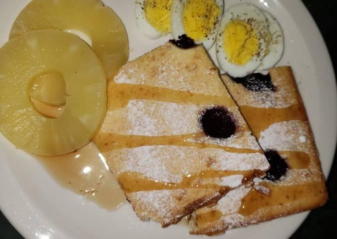 Lazy day cherry pancake(sheet pan pancake)