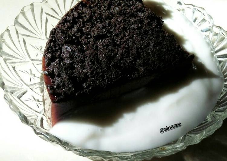 Puding coklat oreo vla santan