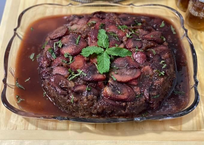 Strawberry Rhubarb Upside Down Cake (And Muffins)