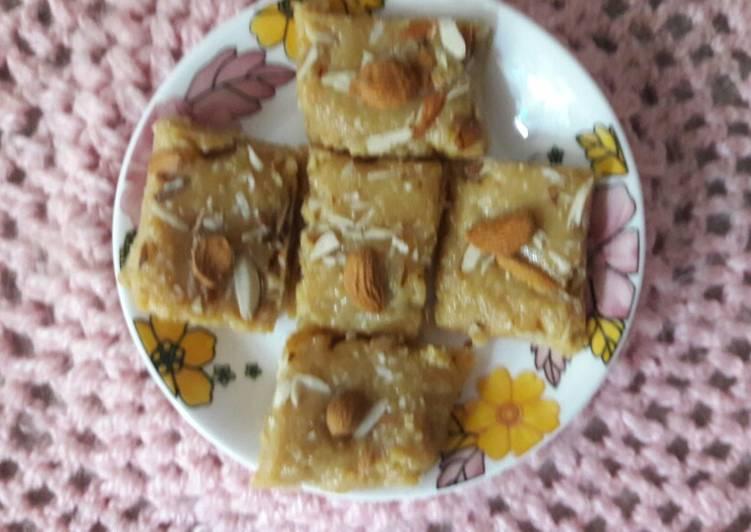 Simple Way to Prepare Speedy Mawa almonds burfi