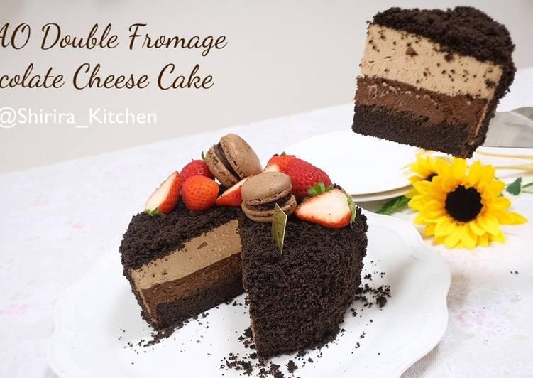 Resep Hokkaido Letao Double Formage Chocolate Cheese Cake Oleh Shirira Kitchen Cookpad