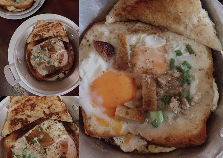 ขนมปังไข่กระทะ 🍳