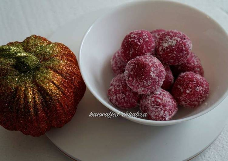 Step-by-Step Guide to Prepare Super Quick Homemade Beetroot coconut laddu