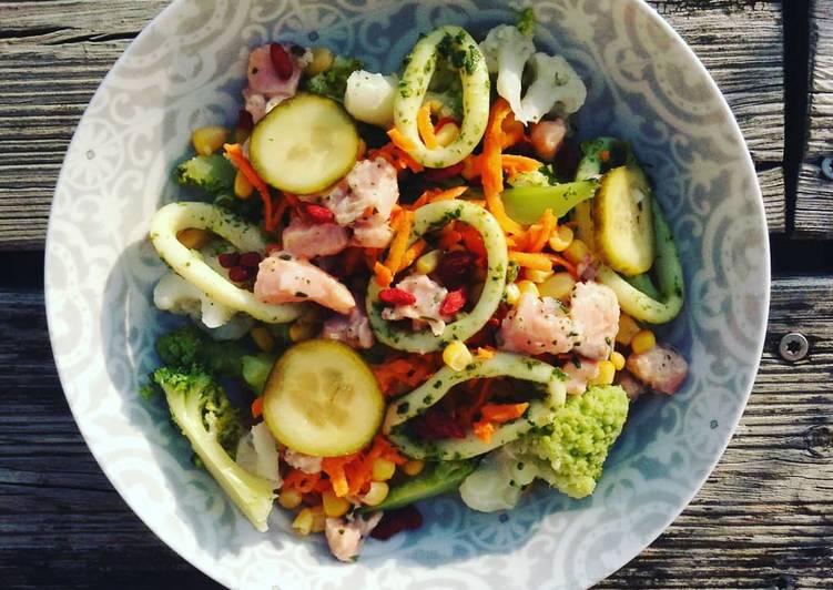 """recette Salade """"mar y verduras"""" le délicieux"""