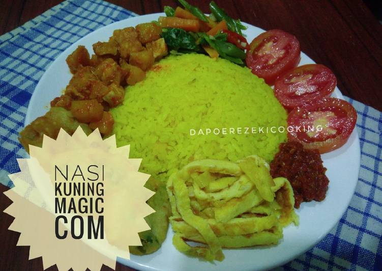 Nasi Kuning Magic com / Rice Cooker - cookandrecipe.com