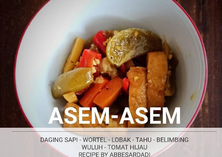 Resep Membuat ASEM ASEM (SOURY SOUP) Bikin Nagih