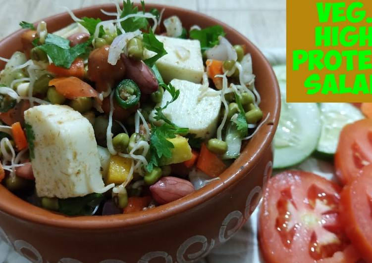 Veg. High protein salad For weight loss/ Healthy sprout chaat