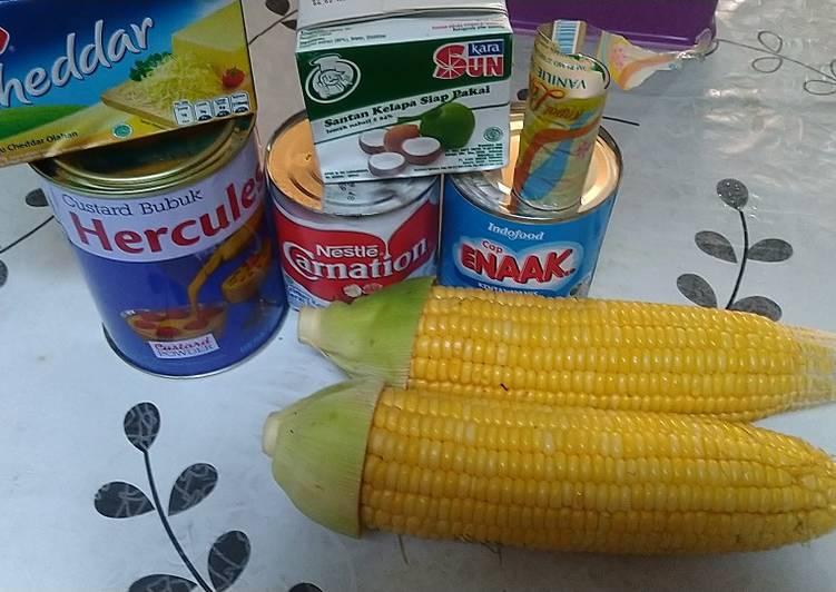 Puding herculas jagung manis keju corn flakes