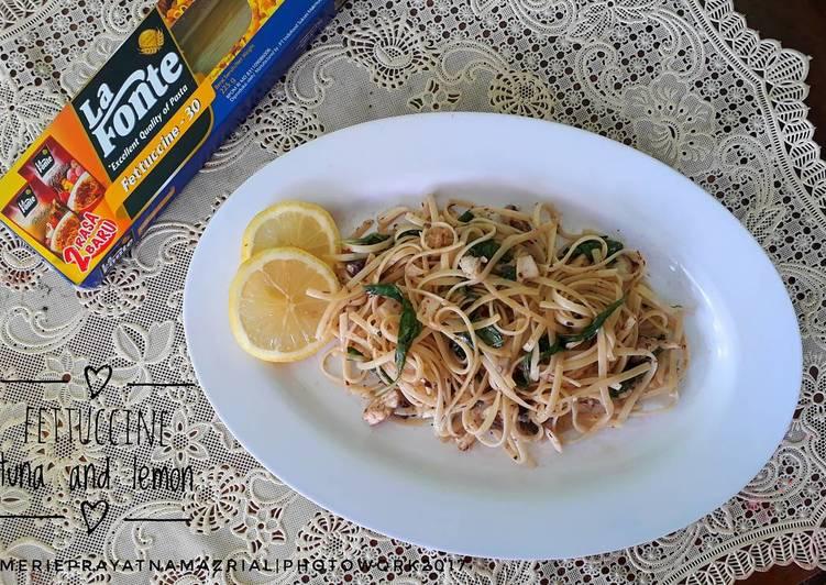 Fettuccine tuna and lemon
