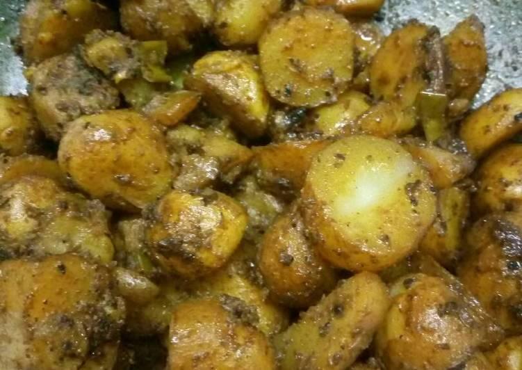 Crispy amchoor potato