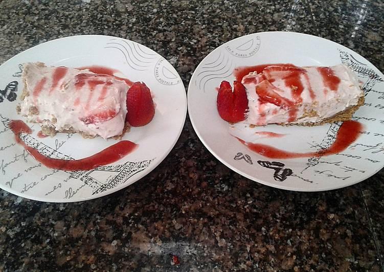 No Bake Fresh Strawberry Cheesecake