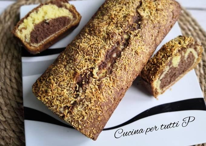 Cake marbré Vanille/Chocolat, très facile