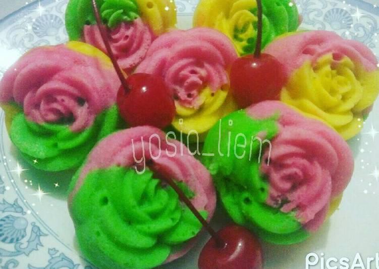 Kue mangkok bunga ( sederhana, anti gagal/bantet/