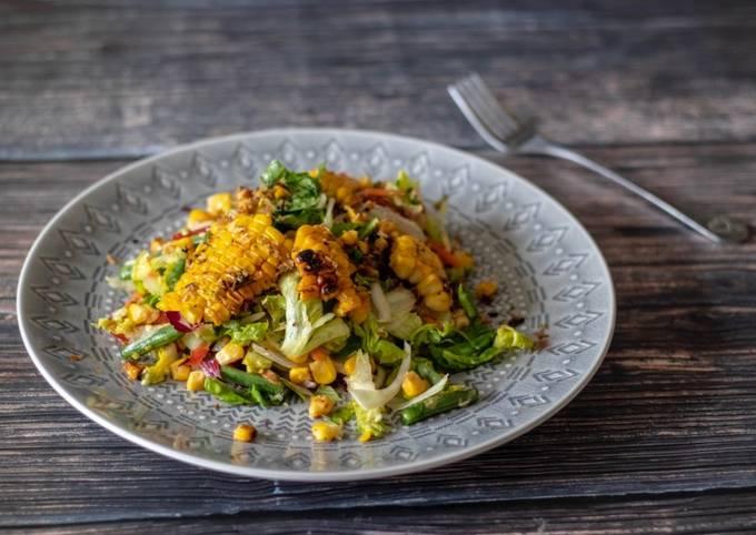 Sweet corn Thai Spicy Salad 🥗 🌶🌿 🌽