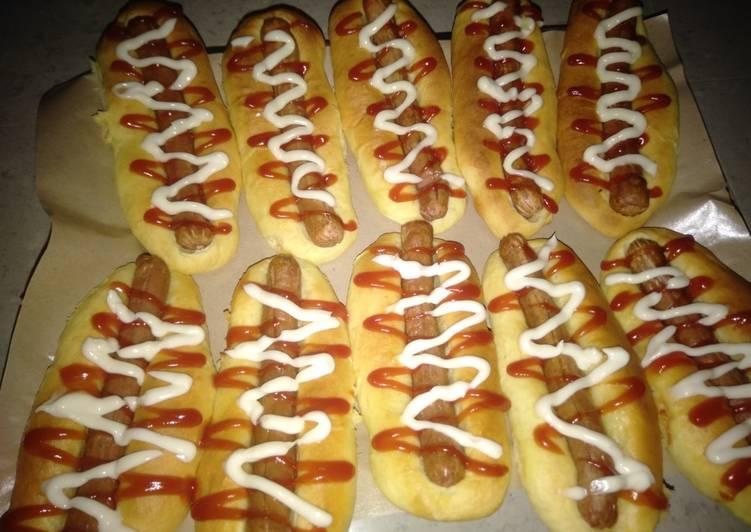 Resep Roti sosis fav.anak🤩 Bikin Jadi Laper