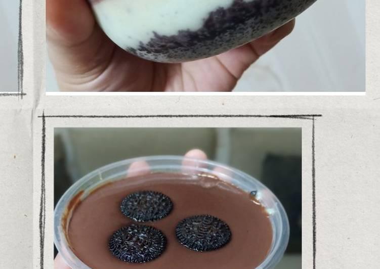 Oreo Crust with Chocolate Vla
