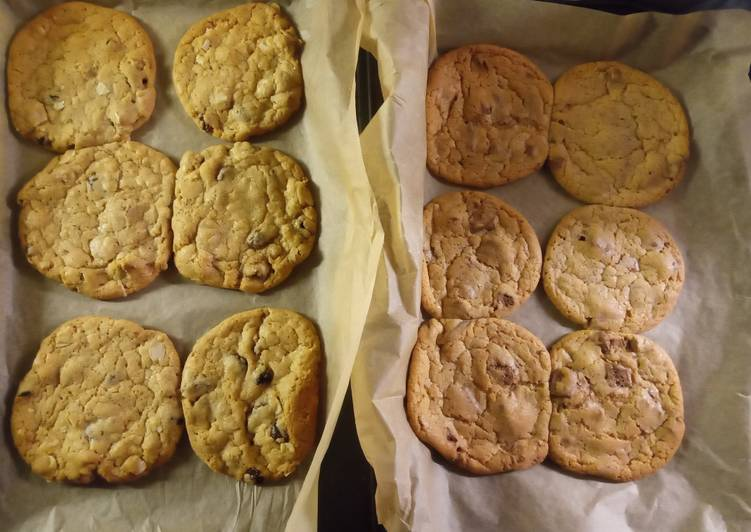 Steps to Make Homemade Cookies - 6 x Chocolate Chip and 6 x Fruit & Nut