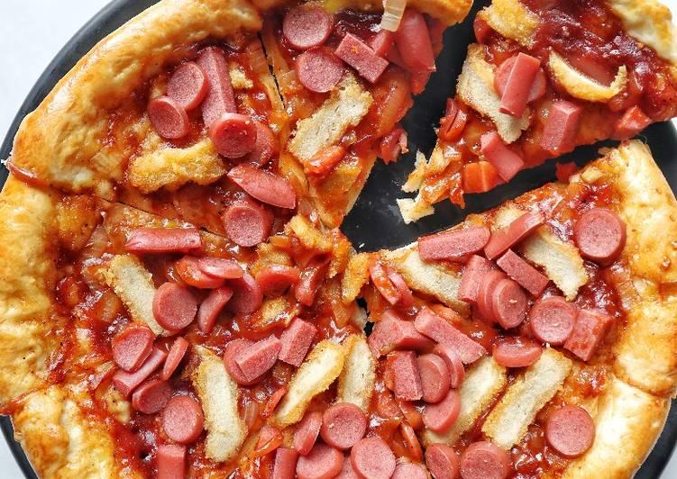 Pizza meat lover panggang (pakai oven tangkring + tips)