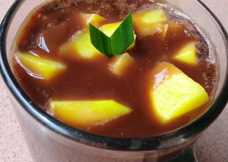 Puding buah Mangga