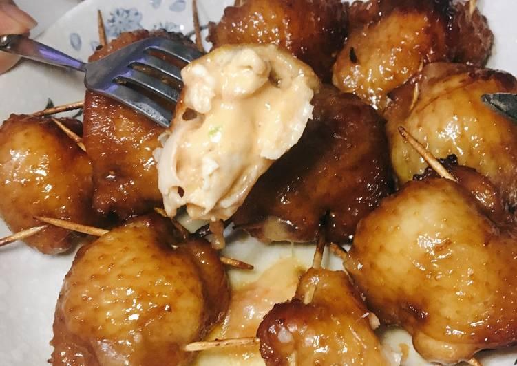 【光波爐篇】明太子芝士釀雞翼 食譜成品照片