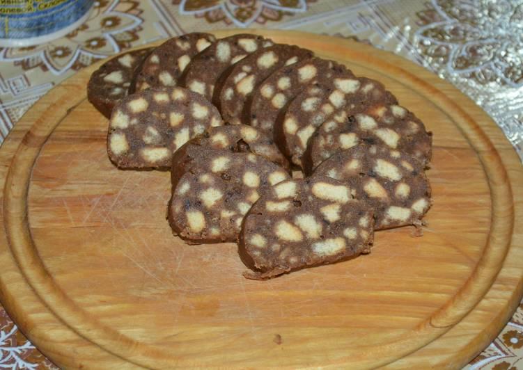 шоколадная колбаска рецепт из детства