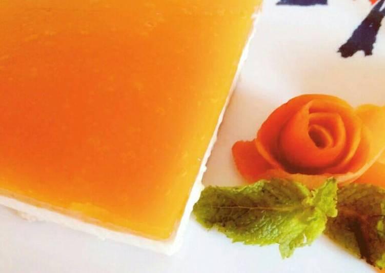 Tarta de queso y yogur light con mermelada casera