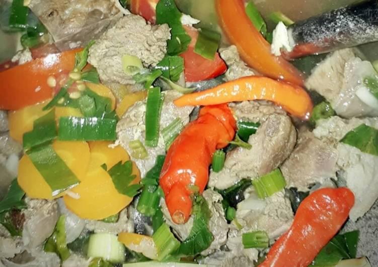 Sayur sop daging kambing