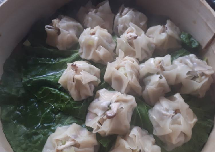 Prawn and oyster dumplings