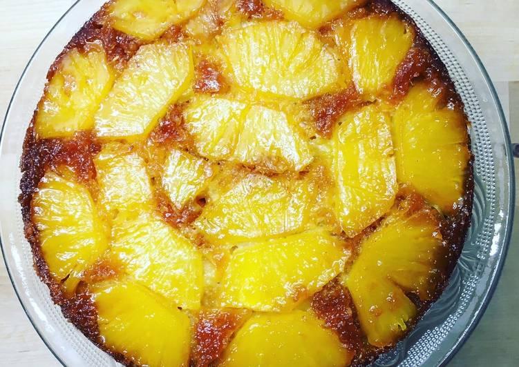 Gâteau renversé ananas noix de coco