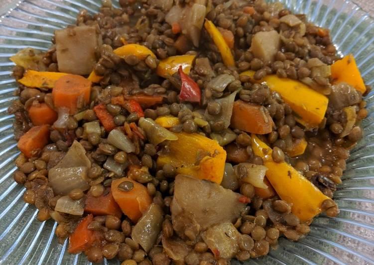 Easiest Way to Make Award-winning Spanish style lentils