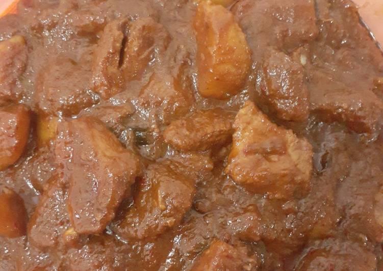 Cara Membuat Rendang Daging Sapi Basah bunda pasti bisa