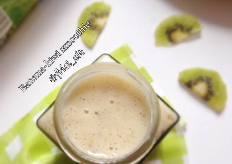 Banana kiwi smoothie