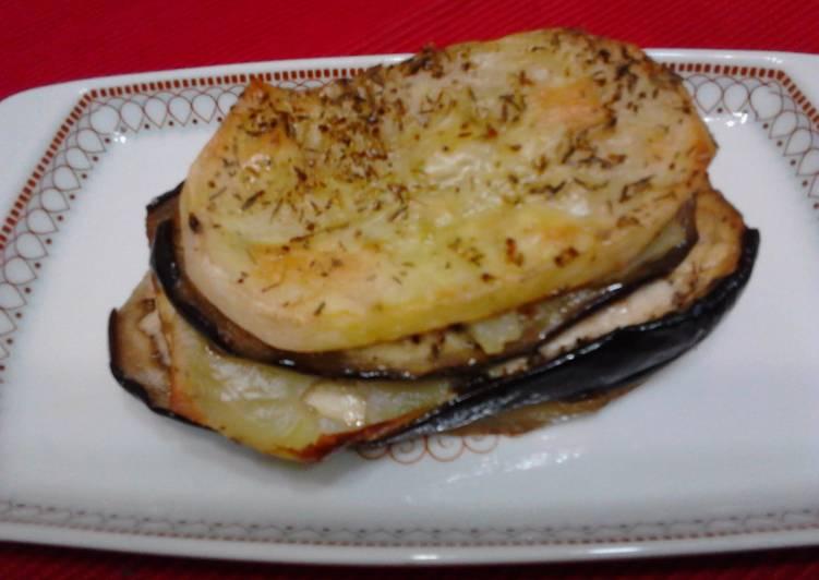 Mil Hojas De Patatas Y Berenjenas Especiadas Receta De Penchi Briones Garcia Cookpad