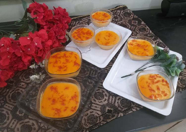 Easiest Way to Make Perfect Orange and carrot jelly pudding