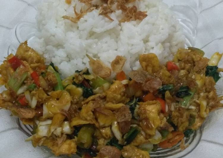 Orak Arik Telur+Sayuran