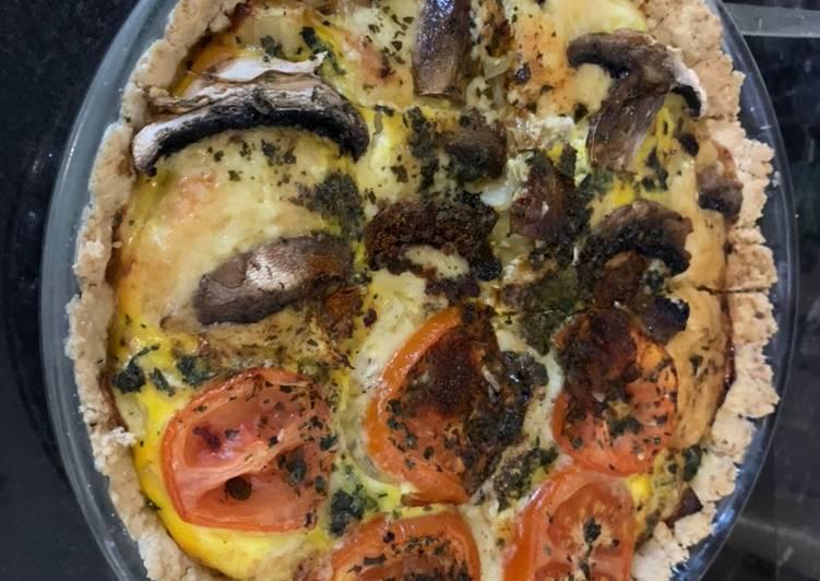 Steps to Prepare Favorite Quiche with no grain pastry