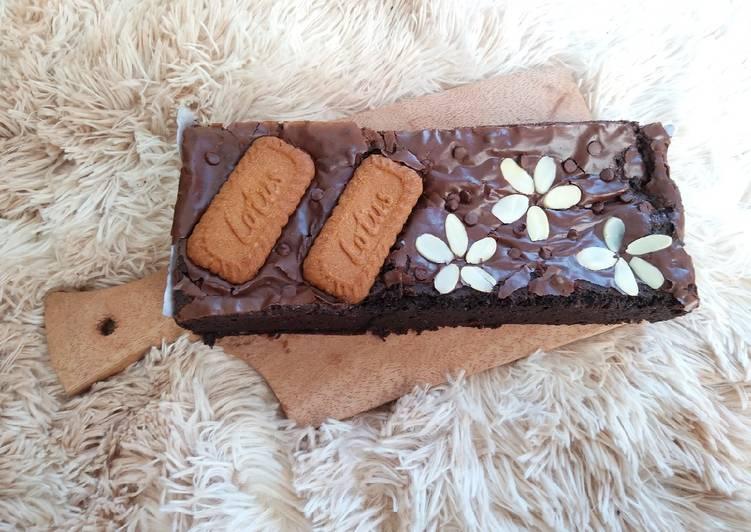 Brownies Panggang Shiny, Crust, Fudge