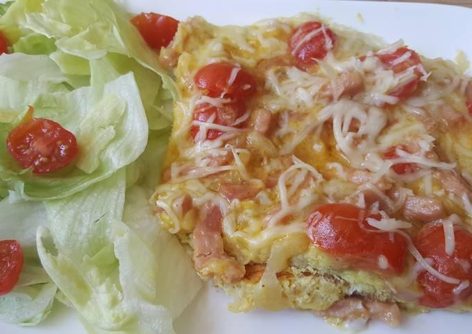 Omelette aux lardons et plus
