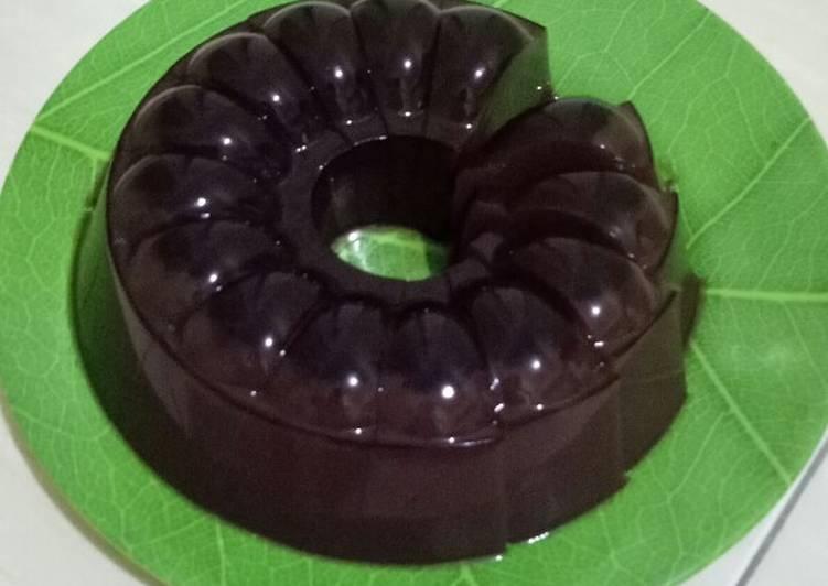 resep cara membuat Puding Coklat Drink Beng Beng