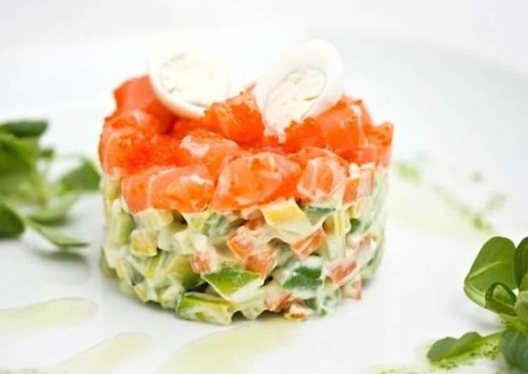 салат с семгой и картошкой фото рецепт олсен ушла