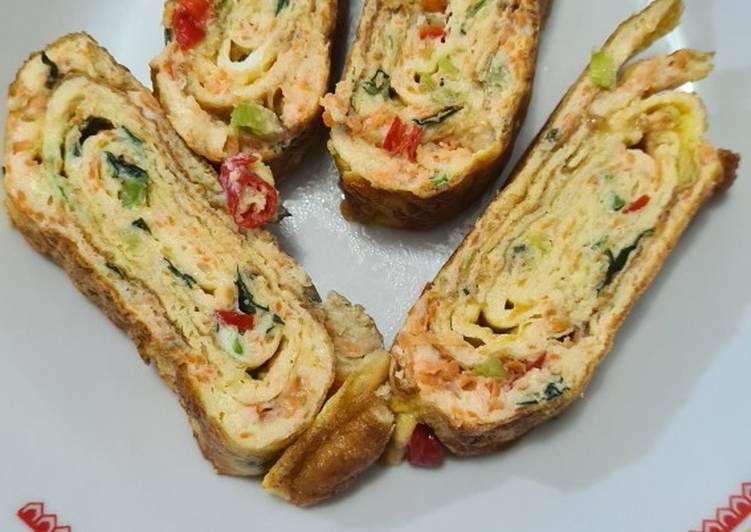 Omlet roll / telur gulung - cookandrecipe.com