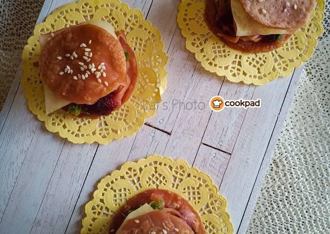 Resep Burger Roti Jala Anti Gagal