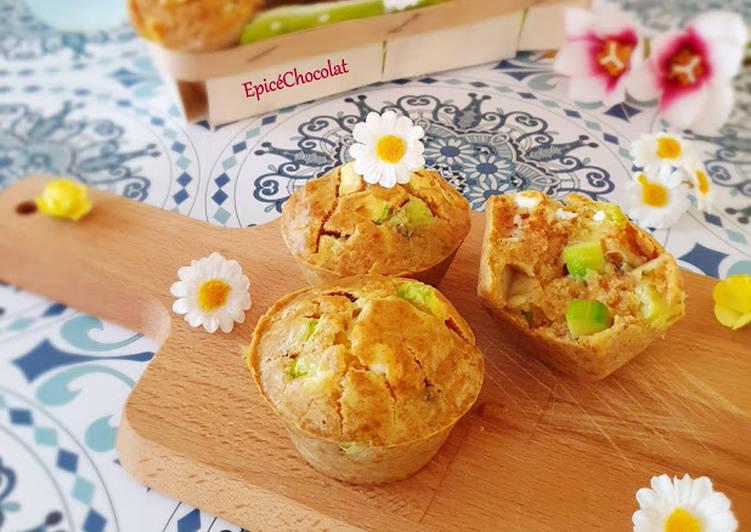 Muffin courgette feta chèvre