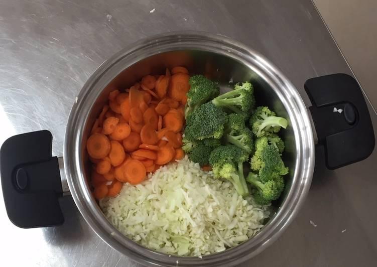 como cocinar verduras en agua