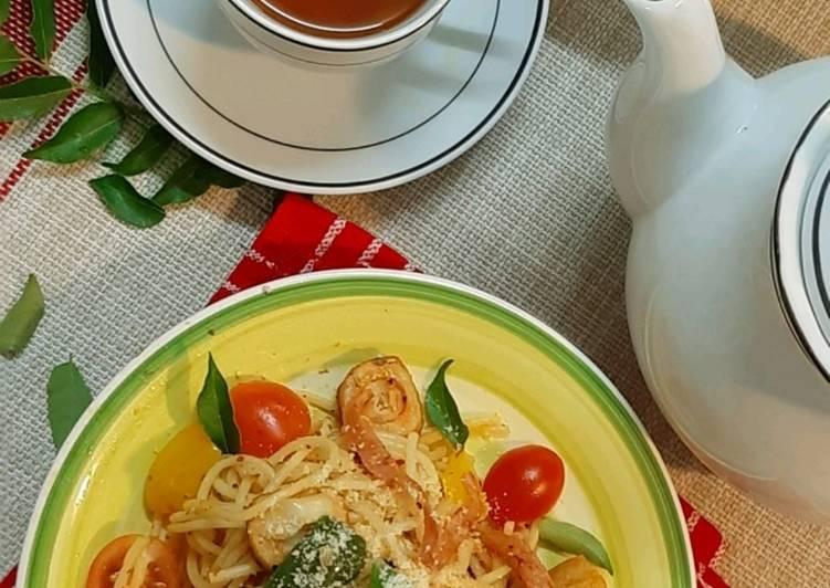 Spaghetti Spicy Salted Egg #DaporAzahZara
